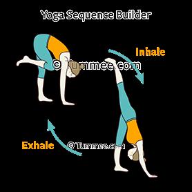 standing split pose flow yoga  urdhva prasarita eka