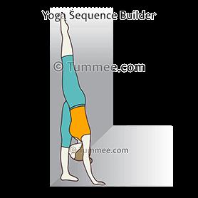 standing split pose variation at wall hanumanasana