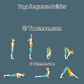 sun salutation a first half yoga surya namaskar a first