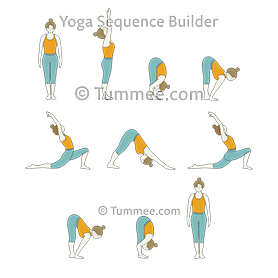 Sun Salutation Variation Crescent Low Lunge Yoga Surya Namaskar Variation Anjaneyasana Yoga Sequences Benefits Variations And Sanskrit Pronunciation Tummee Com