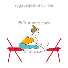 supported seated forward bend pose head up chairs yoga