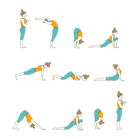 15 surya namaskar all poses  yoga poses