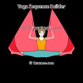 reverse split pose aerial yoga reverse hanumanasana
