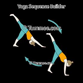 three legged downward facing dog pose kick flow yoga tri