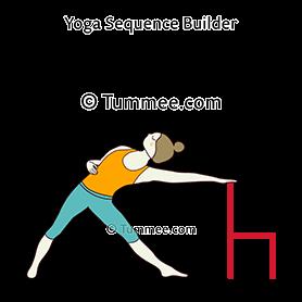triangle pose chair yoga trikonasana chair  yoga