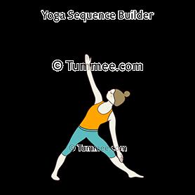 triangle pose variation hand on shin yoga trikonasana