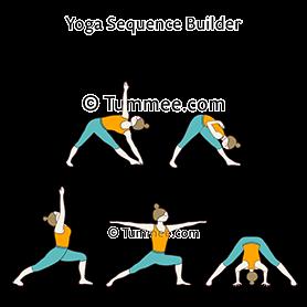 triangle pose wide legged forward fold pose flow yoga