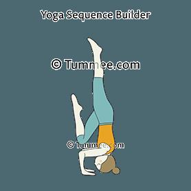 tripod headstand prep one leg half raised yoga catur