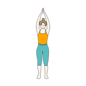 Upward Mountain Pose Namaste Hands (Urdhva Namaskarasana)