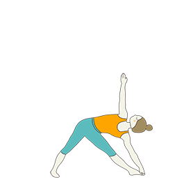Extended Triangle Pose (Utthita Trikonasana)