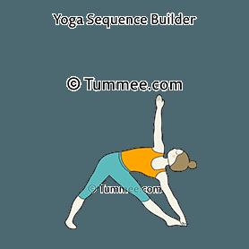 extended triangle pose yoga utthita trikonasana  yoga