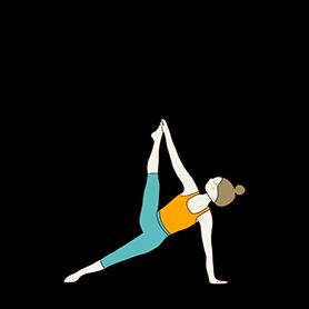 Side Plank Pose II (Vasisthasana II)