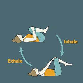Wind Release Pose Exhale Inhale Flow (Apanasana Exhale Inhale Flow)
