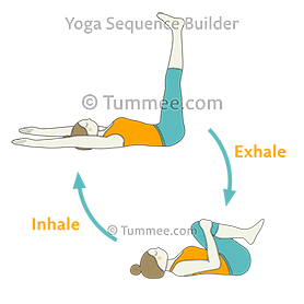 wind release pose flow yoga pawanmuktasana vinyasa